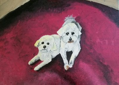 """Max and Molly"" Acrylic by Kim Blaney"